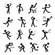 Sport Pictogram Icon Set 01 - Stock Vector