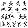 Sport Pictogram Icon Set 02 Track & Field — 图库矢量图片