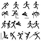 Sport Pictogram Icon Set 02 Track & Field — Stock Vector