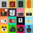 History of Camera — Stock Vector