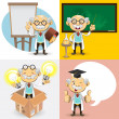 Stock Vector: Professor Characters