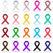 Stock Vector: Awareness Ribbons