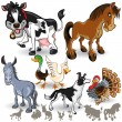 Farm Animals Collection Set 02 — Stock Vector