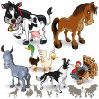 Stock Vector: Farm Animals Collection Set 02