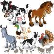 Farm Animals Collection Set 02 — Stock Vector