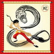 Royalty-Free Stock Vector Image: Chinese Snake New Year