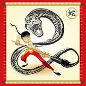 中国蛇新的一年 — 图库矢量图片
