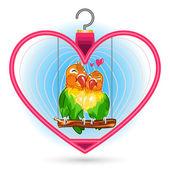 Valentine Love Bird — Stock Vector