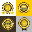 Royalty-Free Stock Imagen vectorial: Satisfaction Guaranteed and Premium Quality Golden Labels