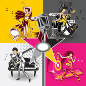 Music Star Idols — Stock Vector