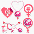 International Woman Day Symbol and Icon - Stock Vector