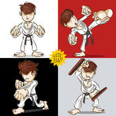 Martial Art Karate — Stock Vector