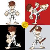Martial Art Karate — Stock Vector