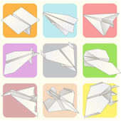 Paper Plane Model Collection Set — 图库矢量图片