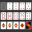 Diamond Suit Playing Cards Full Set — Stock Vector #23660117