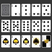 Chat costume ensemble complet de cartes à jouer — Vecteur