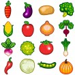 Vegetables Icon Set — Stock Vector #26342007