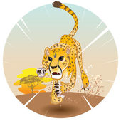 Cheetah King of Speed — Stock Vector