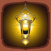 Eid Mubarak Lantern — Stock Vector