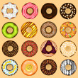 Donuts Collection Set — Stock Vector #31671541