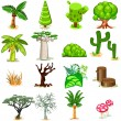 Tree Vector illustration Collection Pack — Stockvectorbeeld