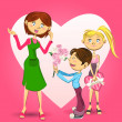 Happy Mothers Day Illustration — Imagen vectorial