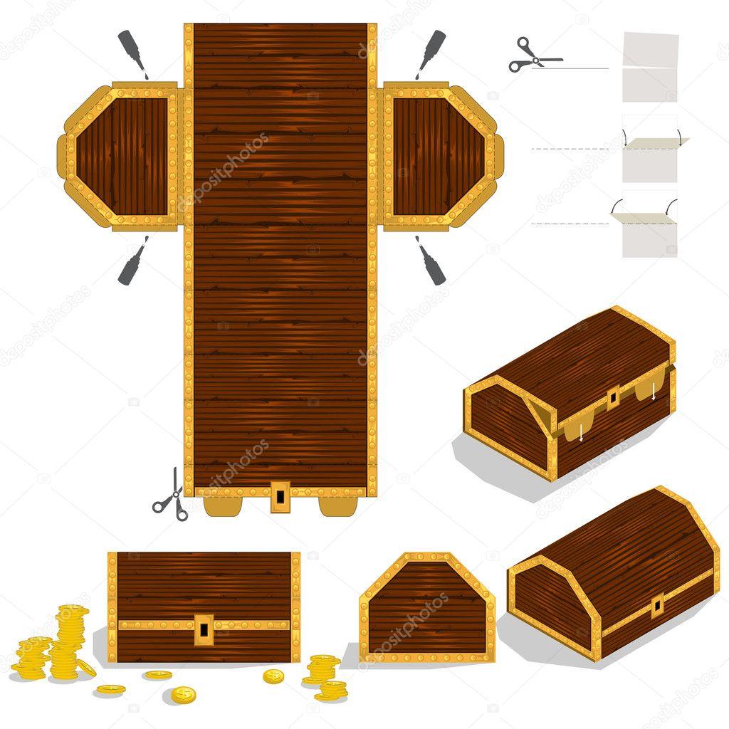 Treasure Chest Packaging Box Design — Stock Vector © brancaescova ...