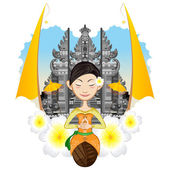 Balinese Girl — Stock Vector