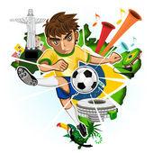 BRAZIL CUP — Stock Vector