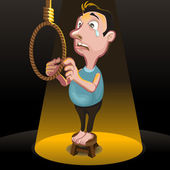 Suicide Killing Punishment Hanging — Stockvector