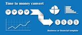 Time to money convert concept — Stock Vector