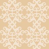 Papel pintado ornamental beige oriental inconsútil — Vector de stock