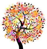 Colorful Tree — Stock Vector