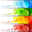 Set of Season Banners, abstract vector illustrations — Stock Vector