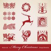 Vánoční dekorace vektorové sada — Stock vektor