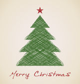 Skizze tanne weihnachtsbaum — Stockvektor