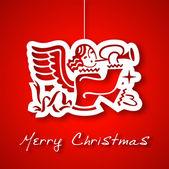 Christmas angel applique background — Stock Vector