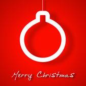 Christmas ball applique background — Stok Vektör