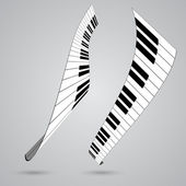 Piano keys, vector illustration — Stock Vector