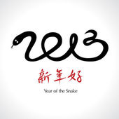 Year of the Snake 2013, Chinese Happy New Year — Stock Vector