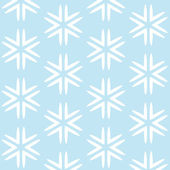 Christmas blue seamless background with white snowflakes — Stock Vector