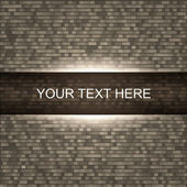 Brick wall background with light — Stock Vector