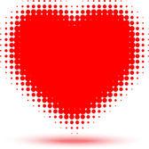 Heart Halftone Effect — Stock Vector