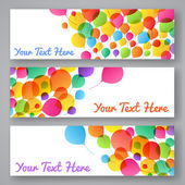 Set of colorful balloons banners — Stock Vector