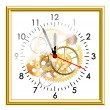 Stock Vector: Time clock mechanism