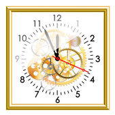 Time clock mechanism — Stock Vector