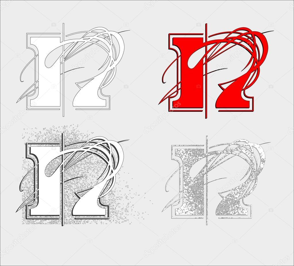 字体n — 图库矢量图像08