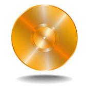 Golden vinil disk — Stock Vector