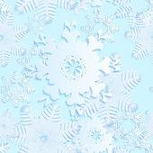 Azul de copo de nieve sin costuras — Vector de stock