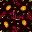 Halloween seamless pattern — Vector de stock #33639957